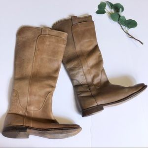 Frye Paige Tan Tall Riding Boots